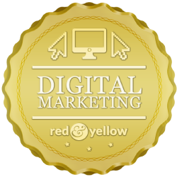 Red and Yellow - Digital Marketing Badge